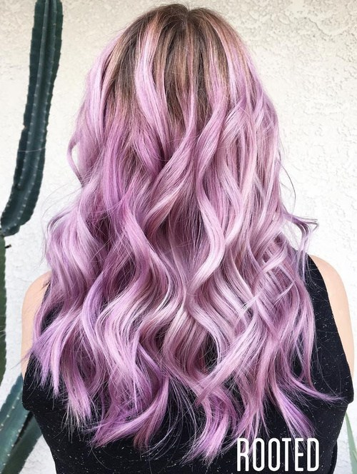Lavender Beach Waves