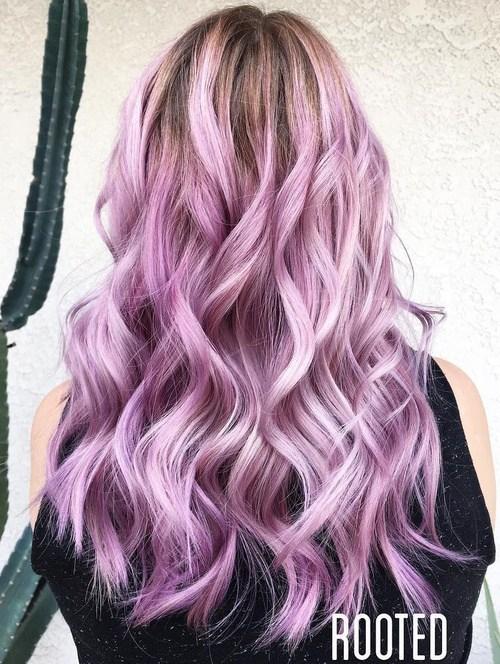 Lavender Beach Waves