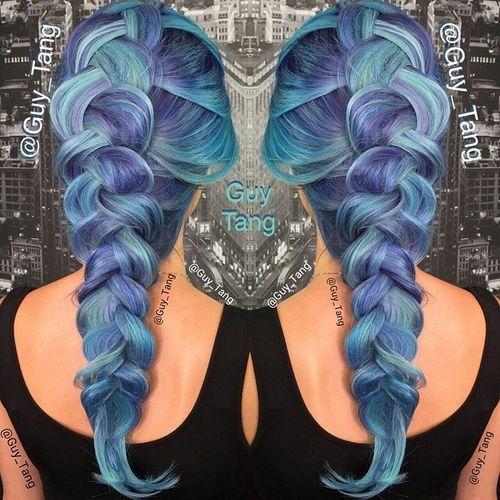 Purple and Blue Mermaid Hair
