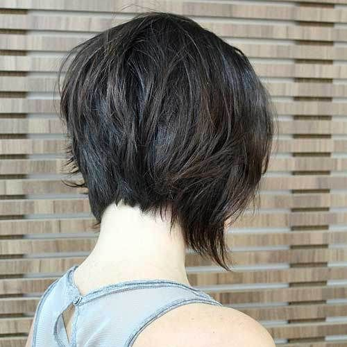 Back view of graduated Bob Hairstyles 2017