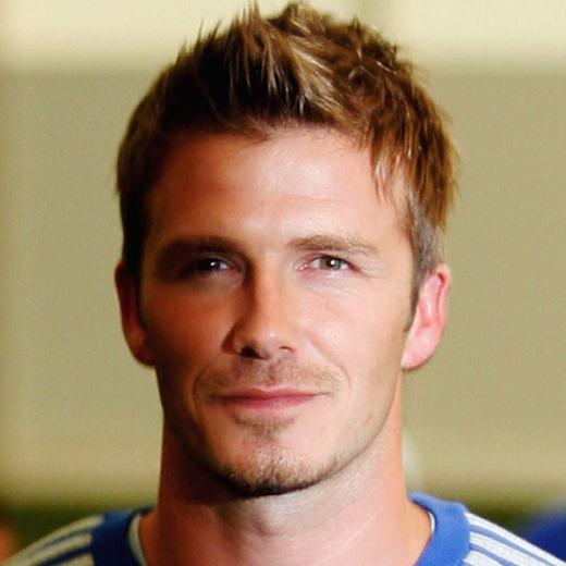 David Beckham Hairstyles 2012