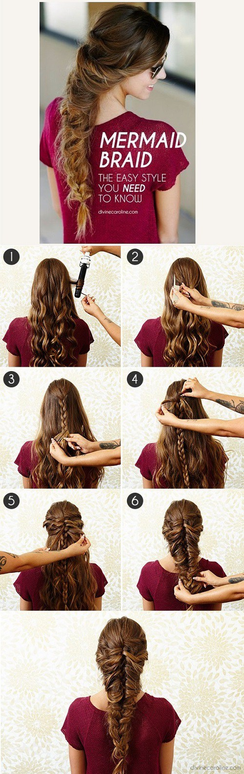 12 Simple Hair Tutorials for Medium & Long Hair - Hairstyle