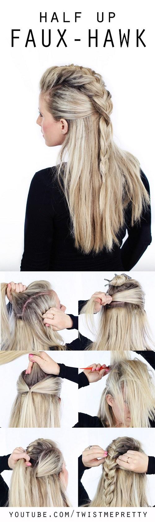 10 Simple Hair Tutorials for Medium & Long Hair - Hairstyle