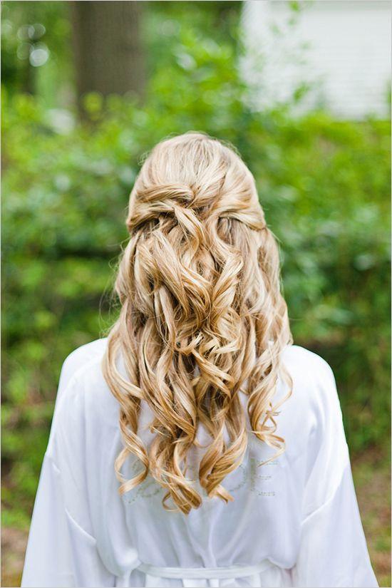 Barrel waves wedding hairstyles