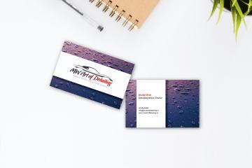 Portfolio - Design - MW Art of Detailing visitekaartje