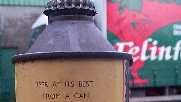 84206593 can1 1 - Llanelli's Felinfoel brewery pioneered beer in cans - BBC News