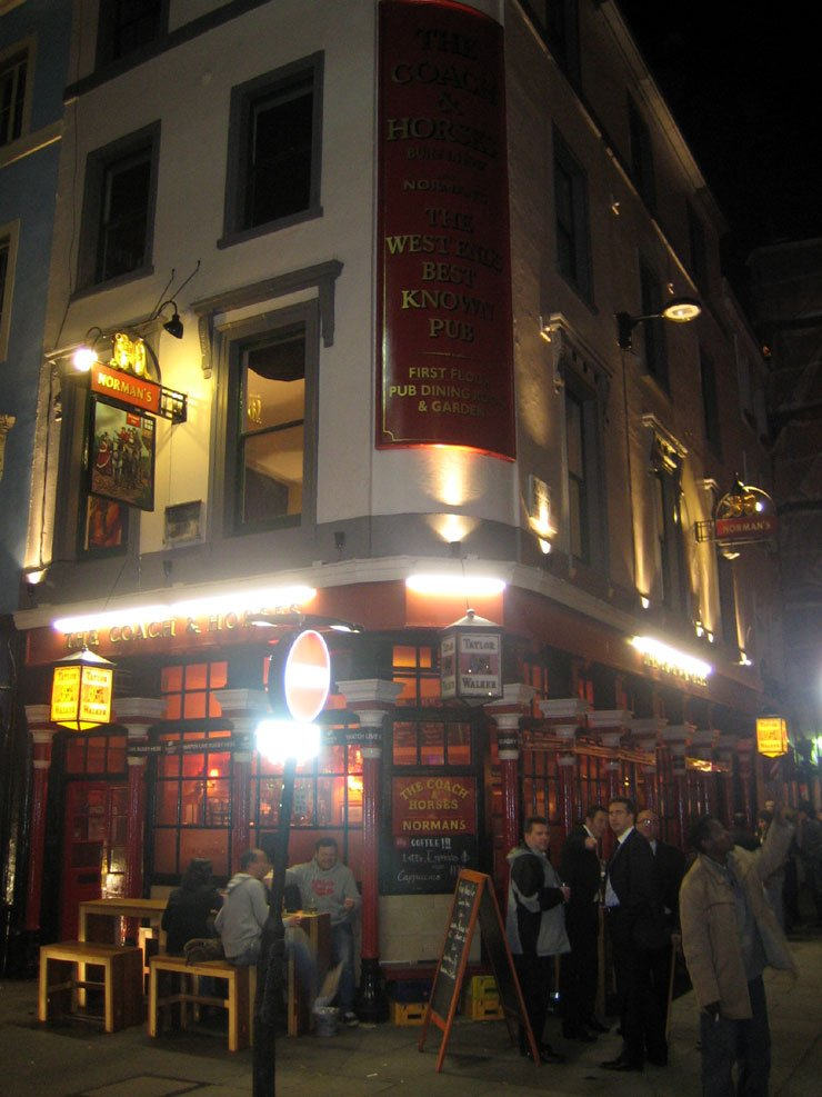 The Coach and Horses Soho London Pub Review - The Coach and Horses, Soho, London - Pub Review