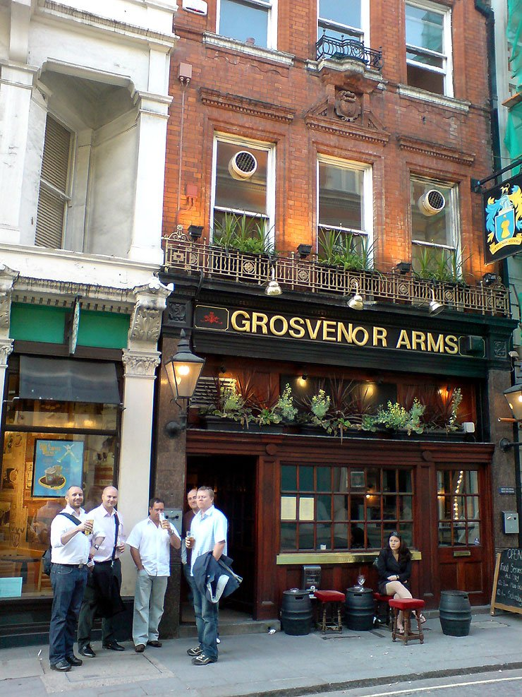 The Grosvenor Arms Mayfair London Pub Review - The Grosvenor Arms, Mayfair, London - Pub Review