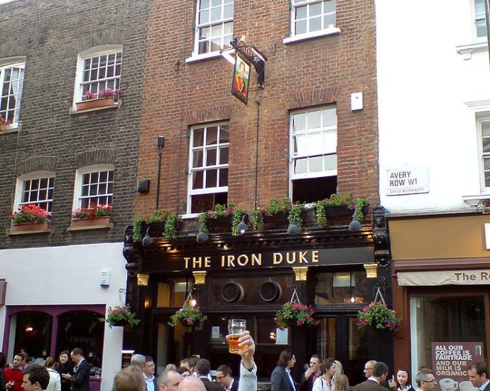 The Iron Duke Mayfair London Pub Review - The Iron Duke, Mayfair, London - Pub Review