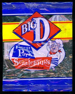 Big D Clear Bag Finest Pork Scratchings Review - Big D, Clear Bag, Finest Pork Scratchings Review