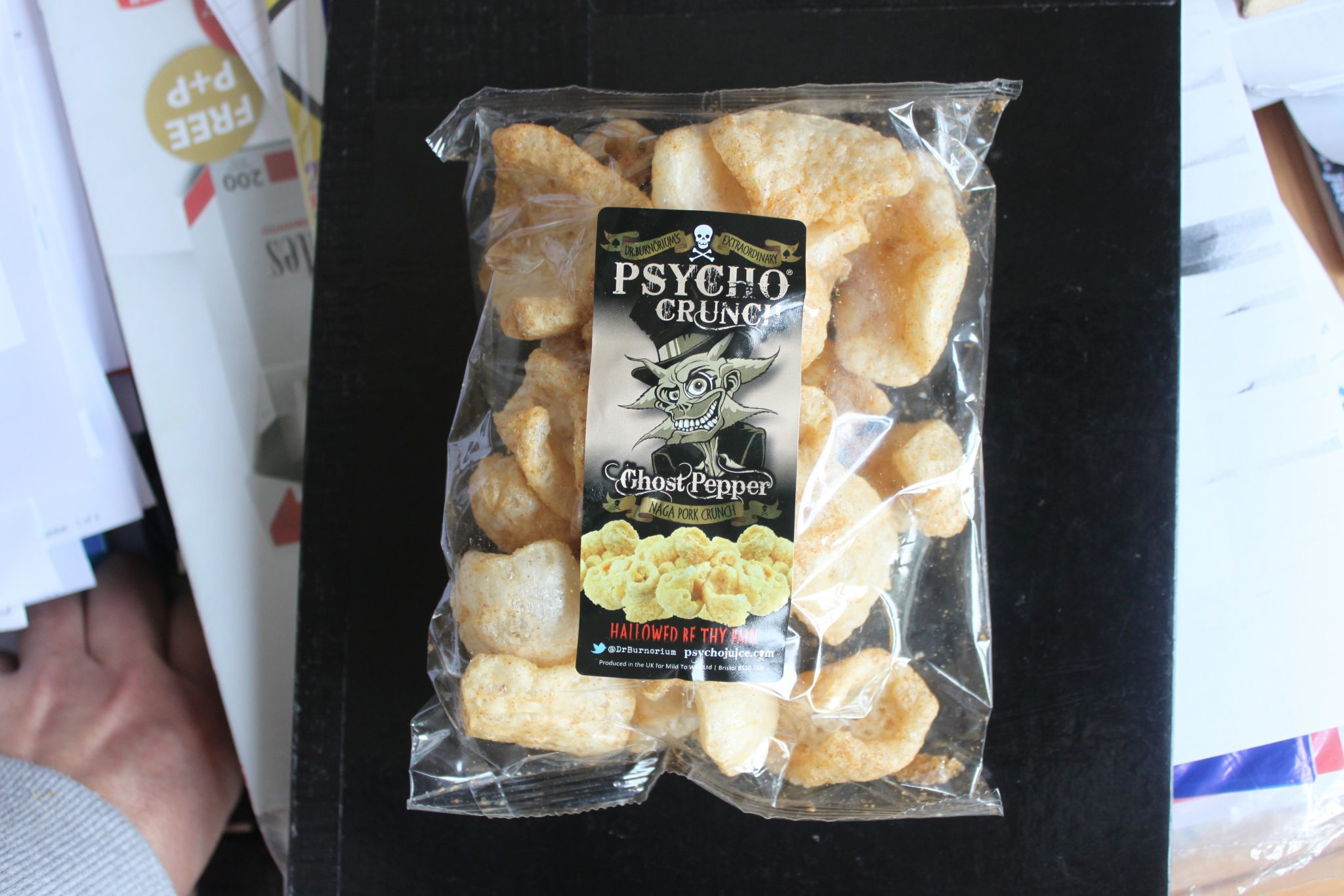 Dr Burnoriums Extraordinary Psycho Crunch Review - How to Review Pork Scratchings