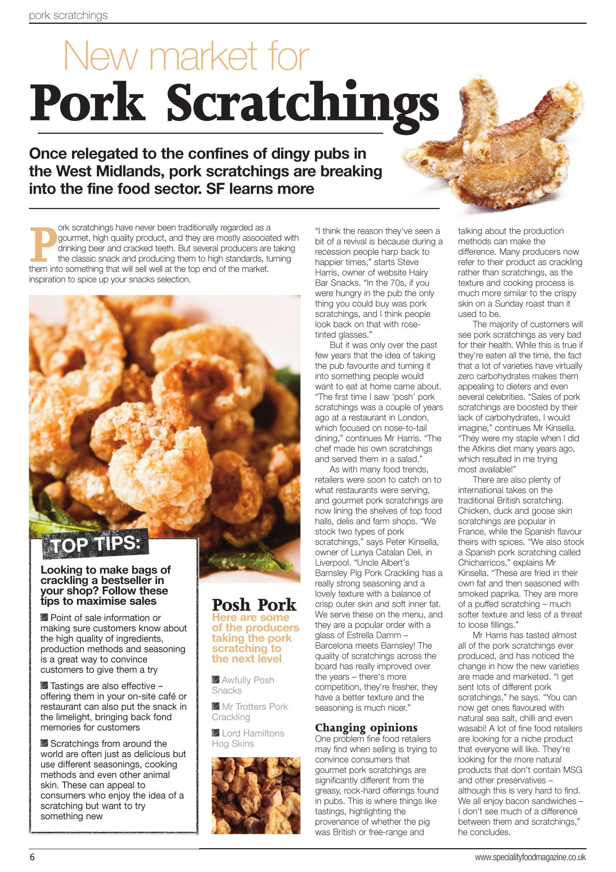 speciality food magazine article - Speciality Food Magazine Article
