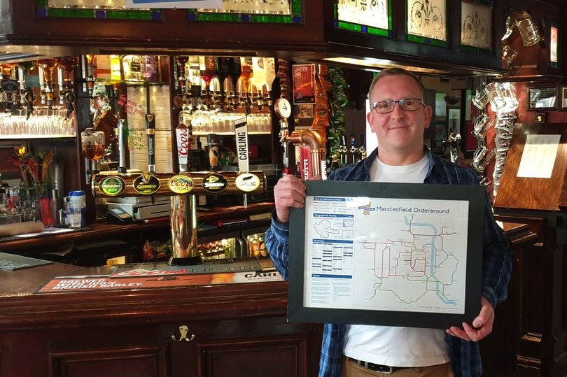 Macclesfield's pubs immortalised on London Underground-style map