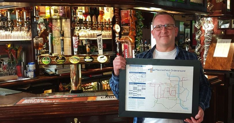 0 JS186012565 - Macclesfield's pubs immortalised on London Underground-style map