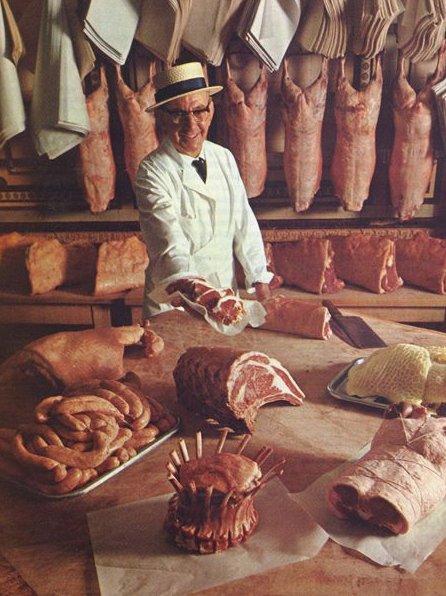 meat purveyor 1960s London