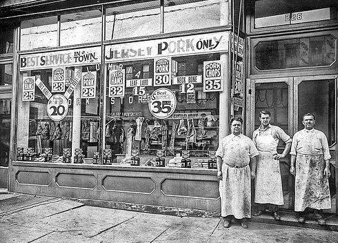 old butchers shop 1900