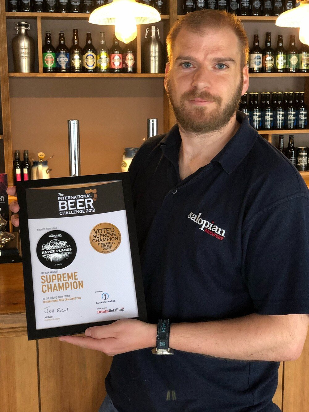 Shropshire beer is crowned best in the world