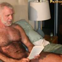 hairy daddy allen silver jerks off