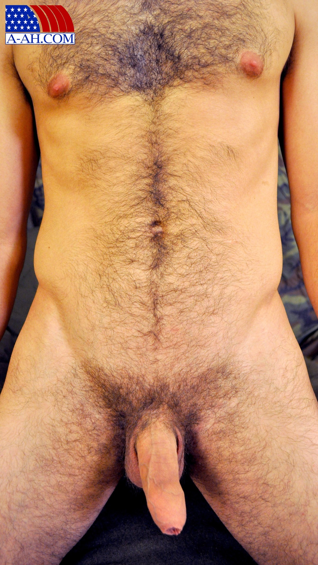 Hot Hairy Airman Vince Jerks His Uncut Cock - Hairy Guys In Gay Porn-4647