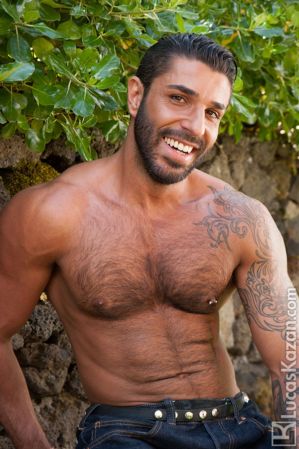 sexy hairy guy raul korso gets naked outdoor