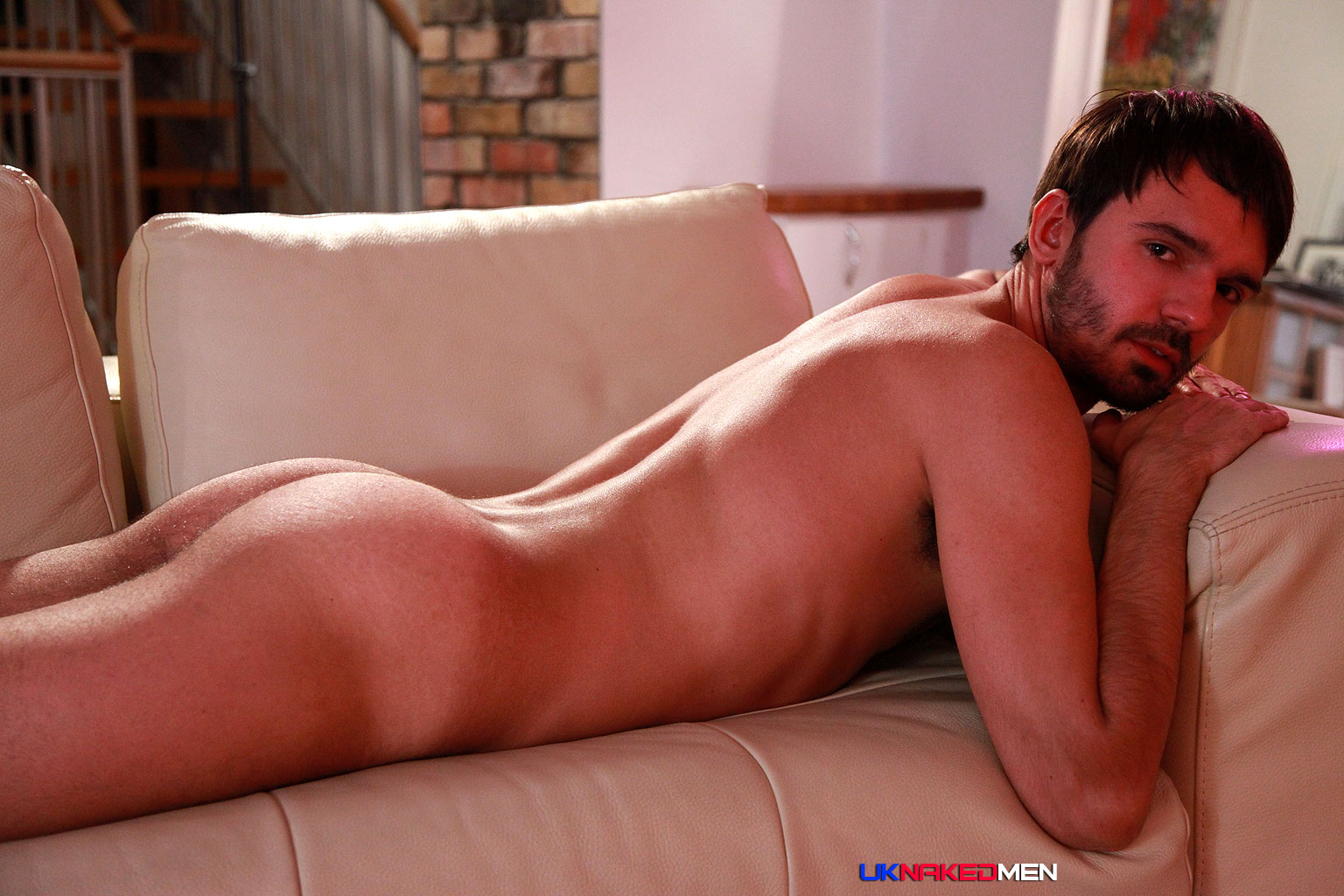 Hairy Guy Bruno Balls Jerks His Uncut Cock - Hairy Guys In Gay Porn-8445