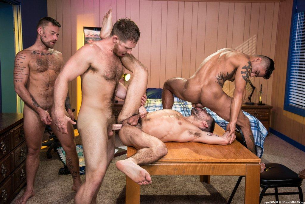 Four Hot Guys Fuck Hard 03