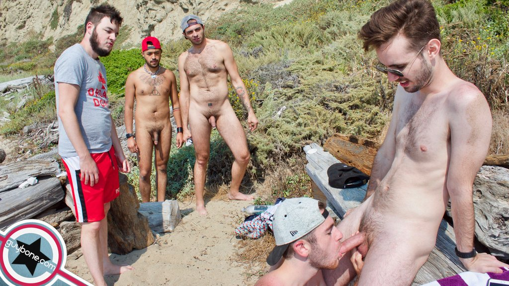Five Hairy Guys Fuck Raw Outdoor 01