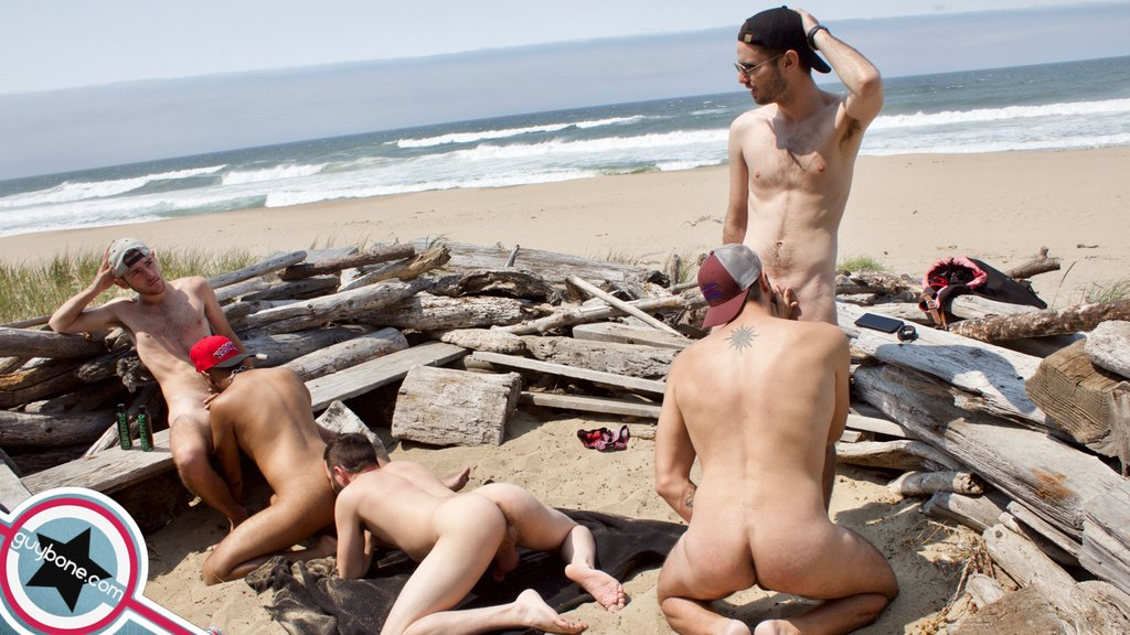 Five Hairy Guys Fuck Raw Outdoor 07
