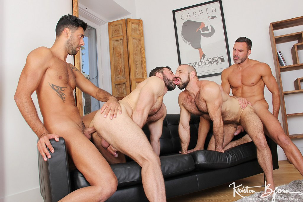 Two Hot Gay Couples Fuck Raw 01