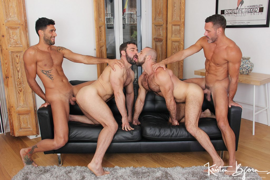 Two Hot Gay Couples Fuck Raw 02