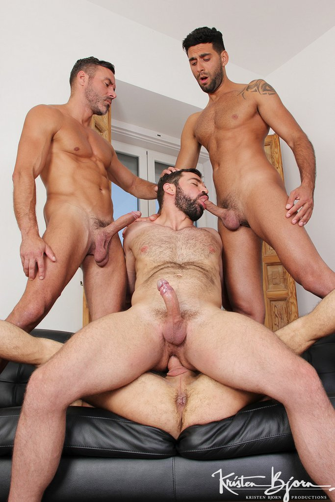 Two Hot Gay Couples Fuck Raw 04
