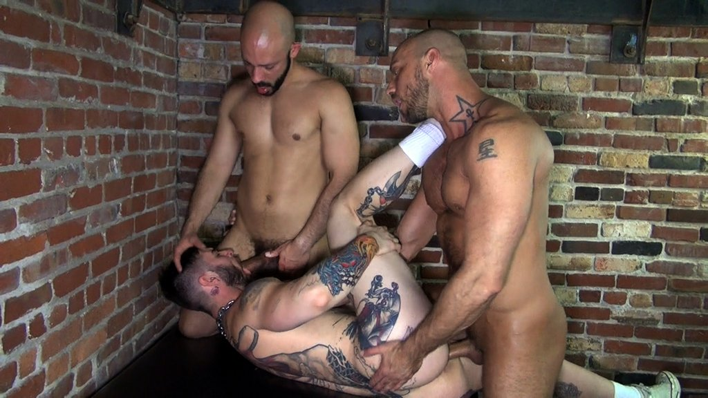 Three Horny Guys Fuck Raw 11