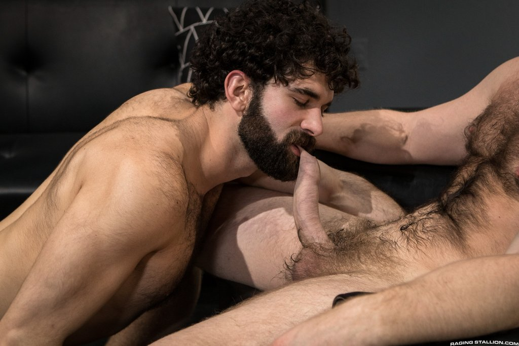 Two Sexy Hairy Guys Suck Dicks 04