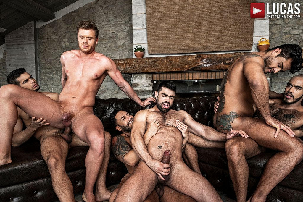 Six Sexy Hunks Fuck Raw 07