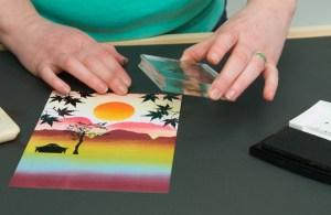 Photographs taken for Lavinia Stamps crafts website