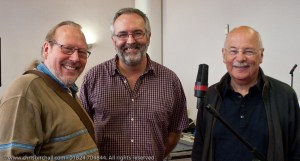 From left: Myself, Merry Hell's John Kettle and Harry Robertson.