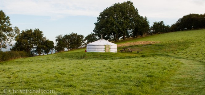 Each Yurt is set in its own field