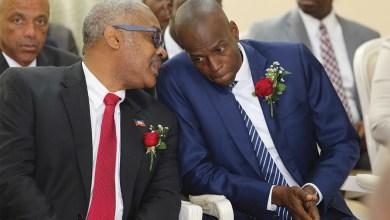 Cha Président Jovenel Moïse et premier ministre Jack Guy Lafontant THJAC 2576 RET
