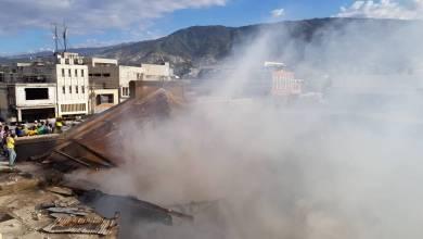 l'incendie qui a touché le marché du Port