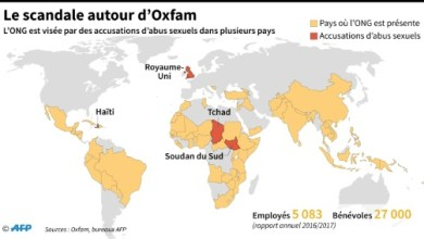Oxfam map scandale