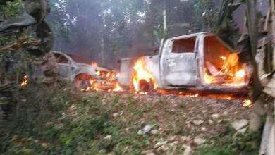 Thiotte Deux véhicules appartenant à la Police Nationale d'Haïti ont été incendiés