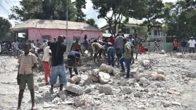 Photo prise après le séisme à Gros morne Credit Hector Retamal AFP