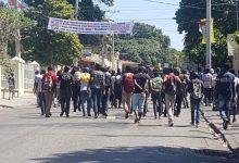 Une manifestation détudiants dispersée par les forces de lordre