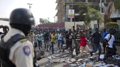 Depuis le 7 février les manifestations se sont multipliées à travers les principales villes de Haïti qui ont subi dimportants dégâts matériels. AP 1