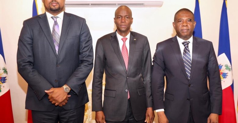 Le président de la République en consultations avec Bodeau et Cantave Photo Twitter Jovenel Moise