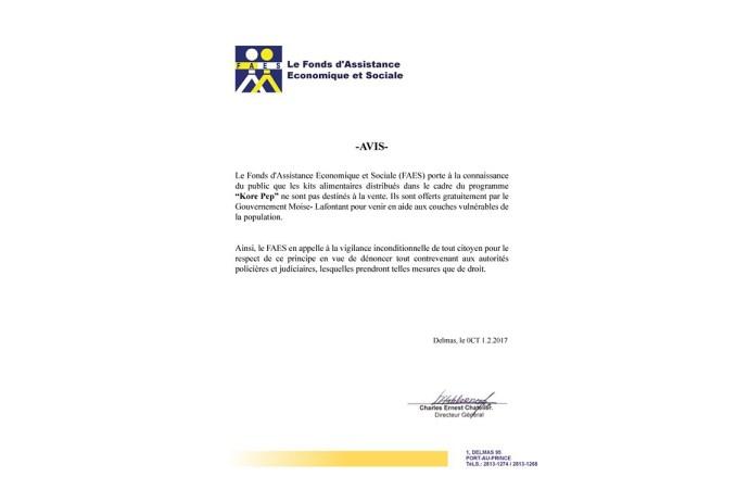 HAÏTI-SOCIAL:  LE FAES CONTINUE DE DEFENDRE L'INTERÊT DES VULNÉRABLES.