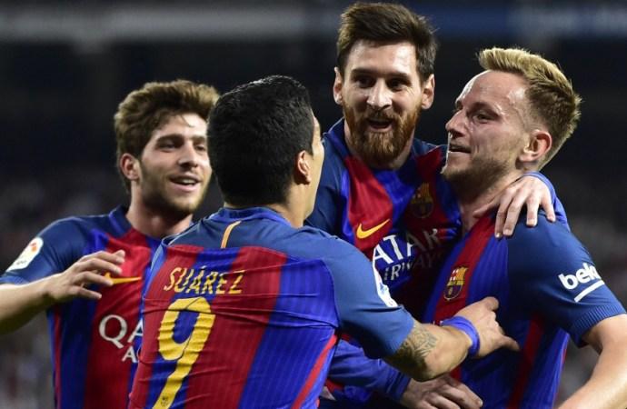 ESP – FC Barcelona   Le Barça et Messi régalent 3-0