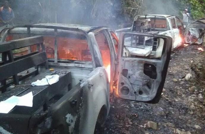 Deux véhicules de la BRICIF incendiés lors d'une opération