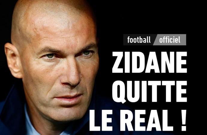 C'est un énorme coup de tonnerre Zinédine Zidane quitte le Real Madrid