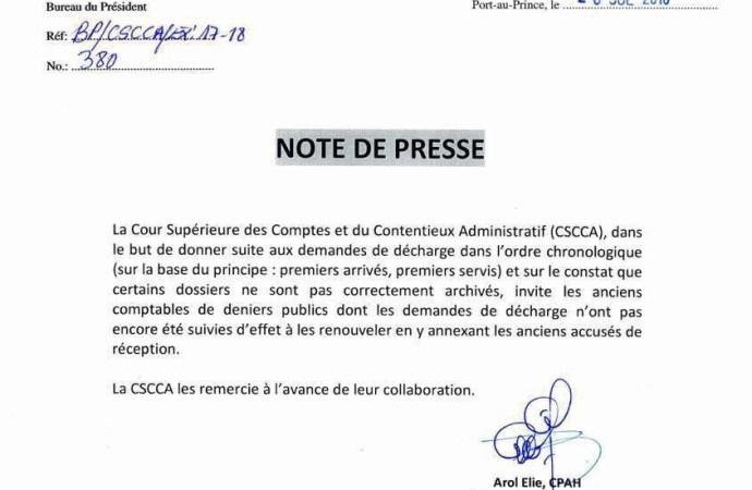 Décharge aux ex-fonctionnaires de l'État: la CSCCA s'y met, le Parlement à la traîne